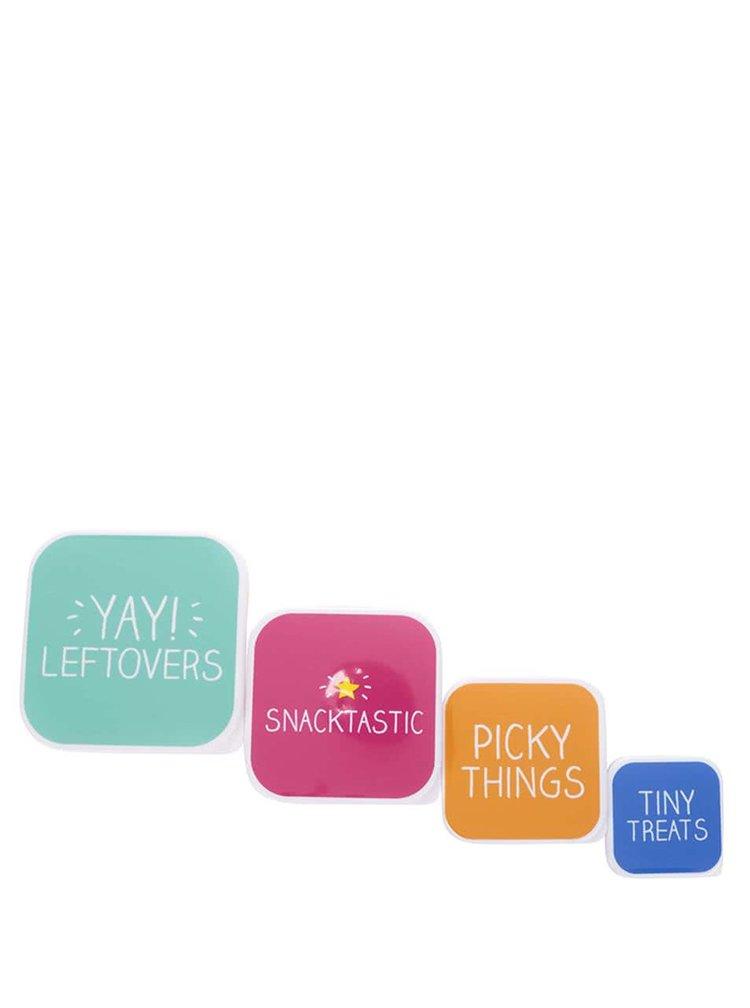 Súprava 4 farebných desiatových krabičiek Happy Jackson