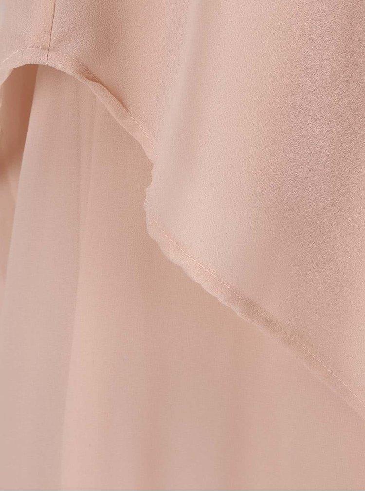 Puzdrové ružové minišaty na ramienka VERO MODA Miva
