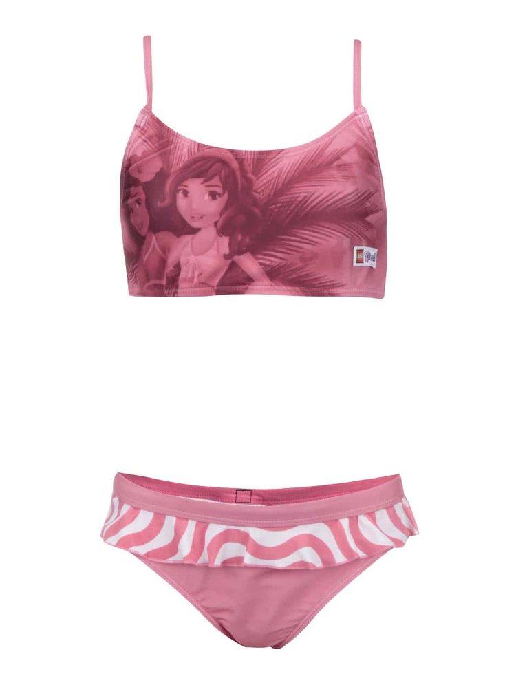 Růžové holčičí plavky s potiskem LEGO wear