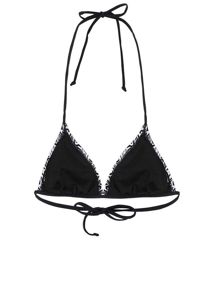 Sutien bikini VERO MODA Arrow alb cu negru