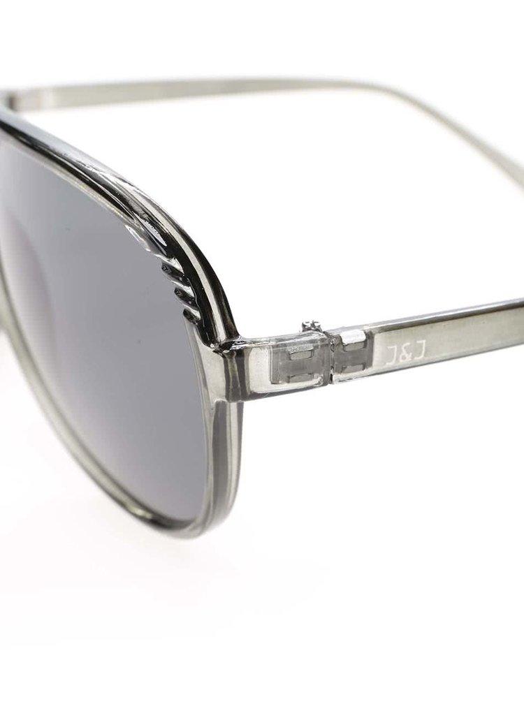 Zelenosivé slnečné okuliare Jack & Jones Jack