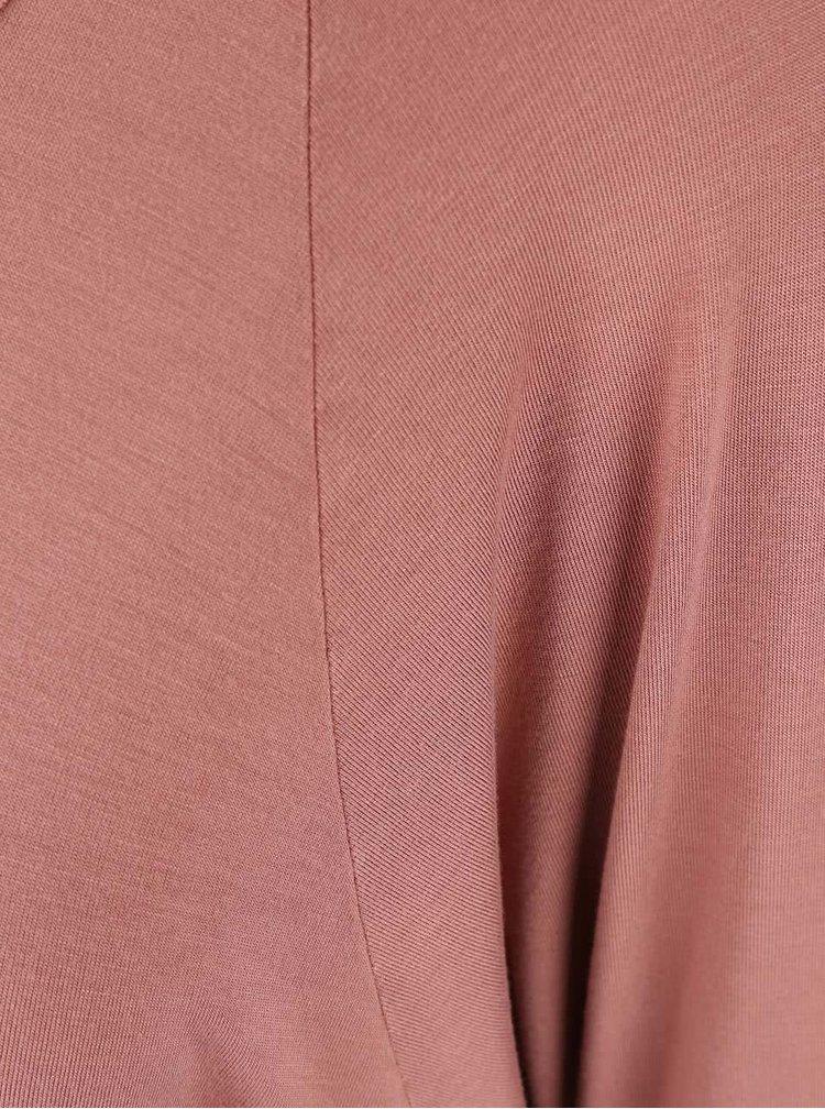 Cihlové tričko s odhalenými zády DEHA