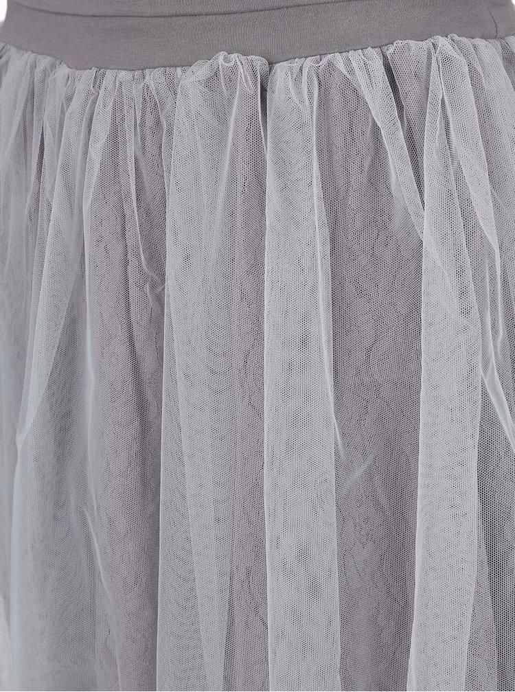 Sivá tanečná sukňa DEHA