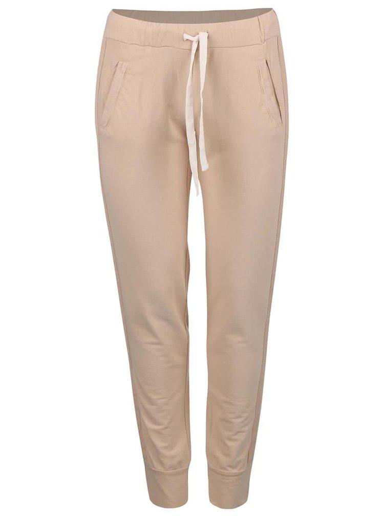 Béžové kalhoty na volný čas DEHA