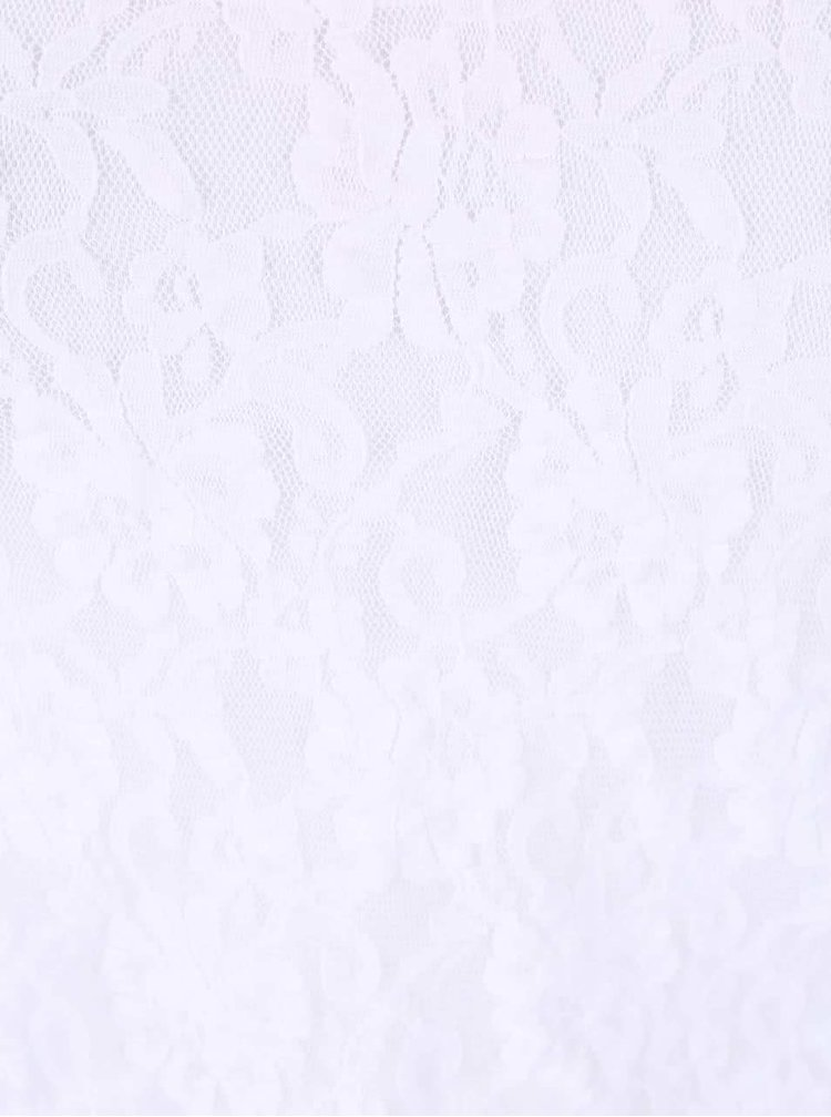 Bílé krajkové tílko DEHA