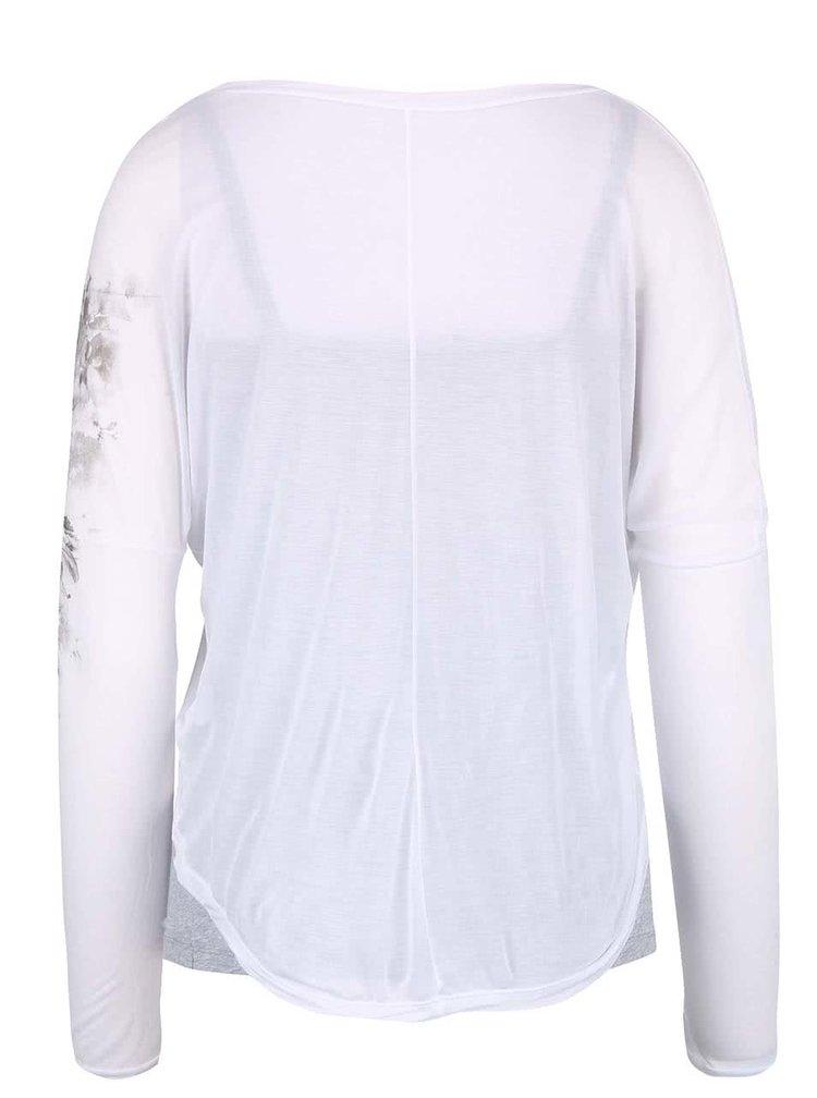 Bluză DEHA gri, cu print