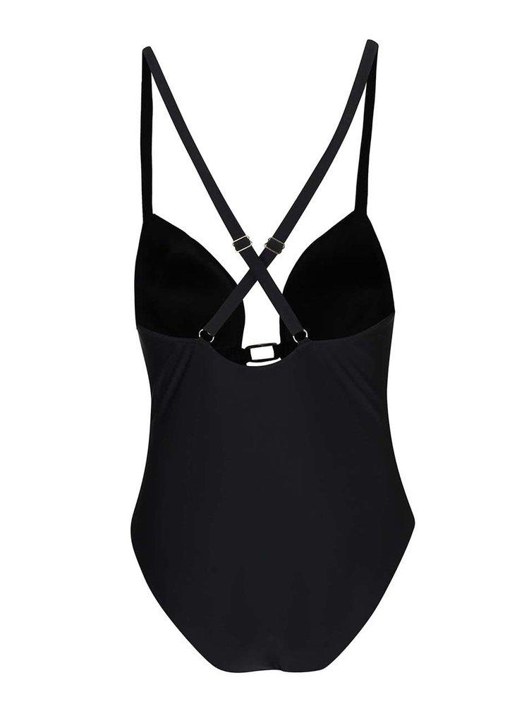 Černé jednodílné plavky Pieces Tonga