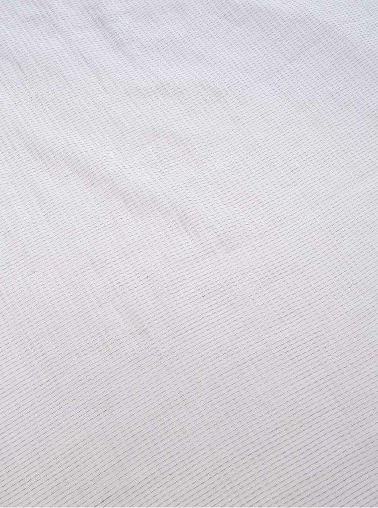 Eșarfă Pieces Bagga albă cu model