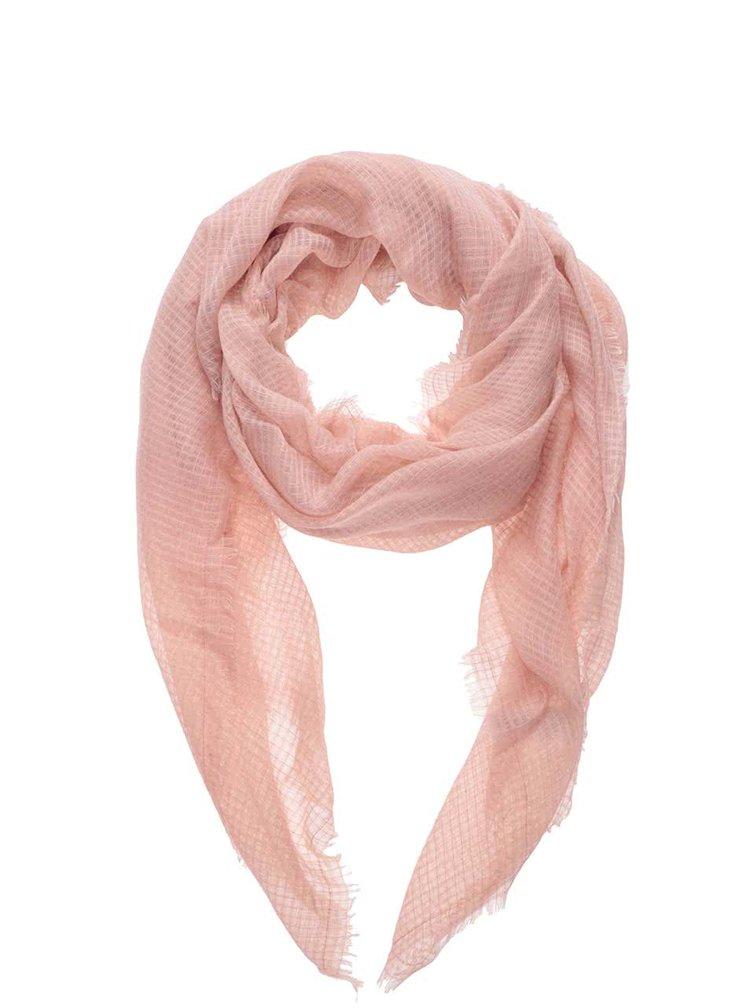Světle růžový šátek Pieces Babette