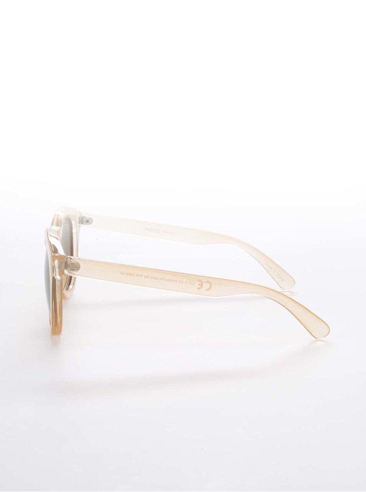 Svetlo oranžové slnečné okuliare Pieces Biana