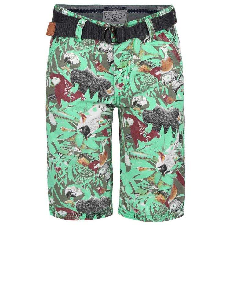 Pantaloni scurți Cars Jeans Sangro verzi de băieți