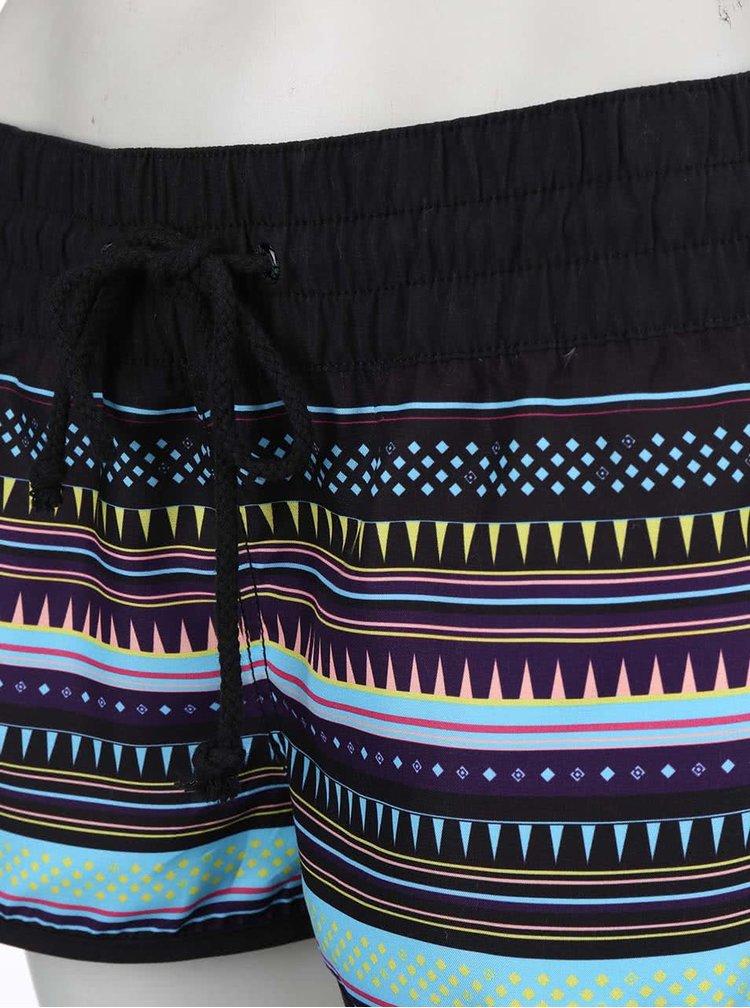 Černé kraťasy s barevnými proužky Horsefeathers Naise