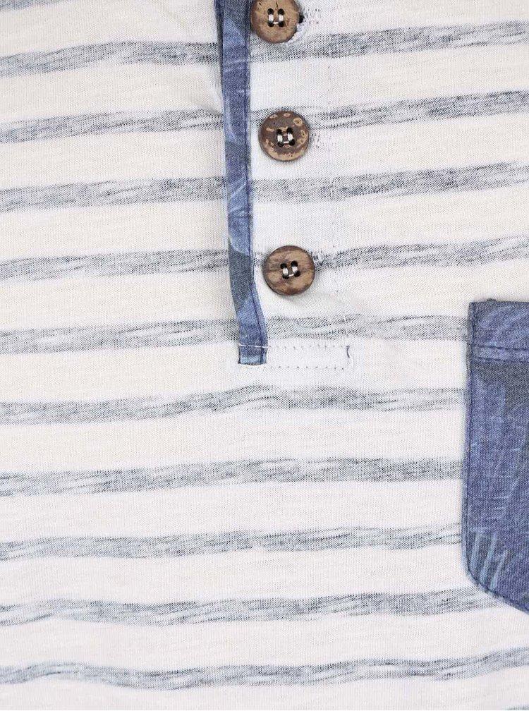 Bielo-modré chlapčenské tričko s vreckom Cars Jeans Dello