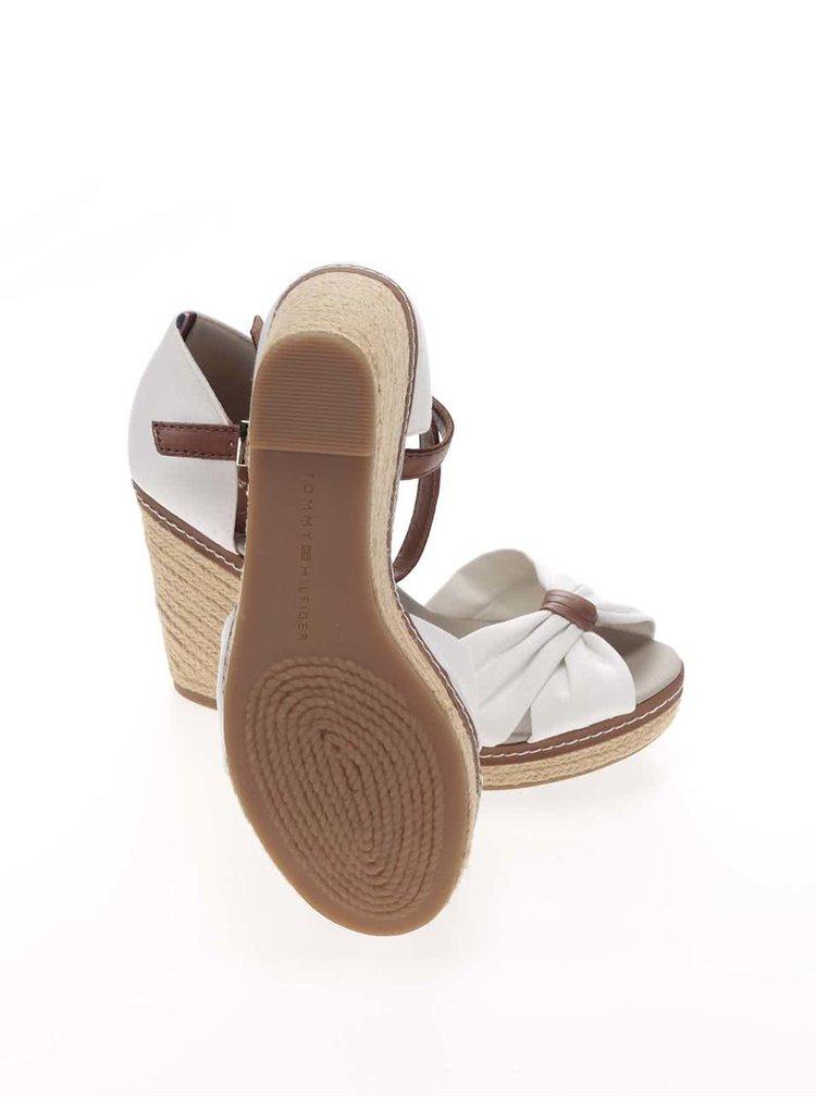 Biele dámske topánky na platforme Tommy Hilfiger