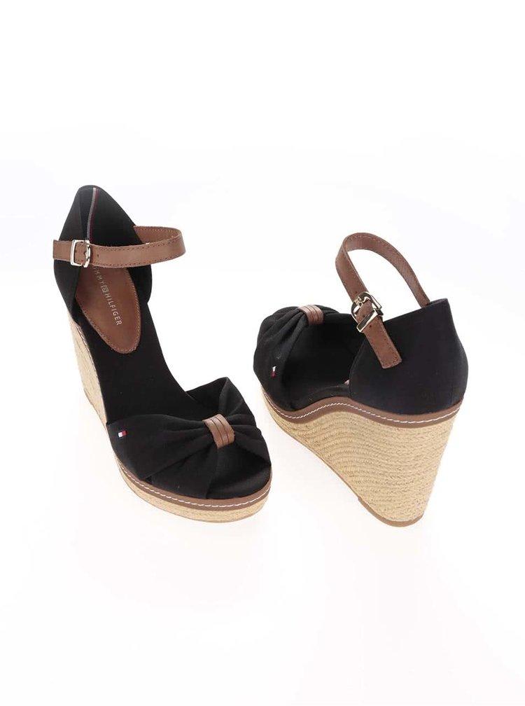 Černé dámské boty na klínku Tommy Hilfiger