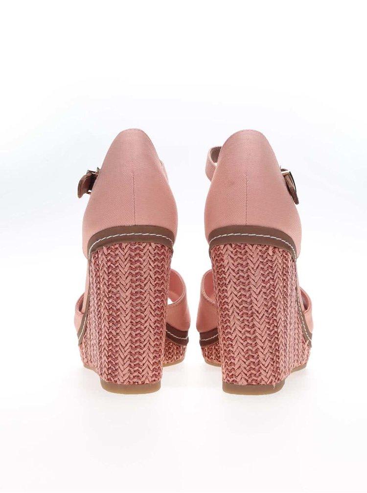 Lososové dámské bavlněné boty na klínku Tommy Hilfiger