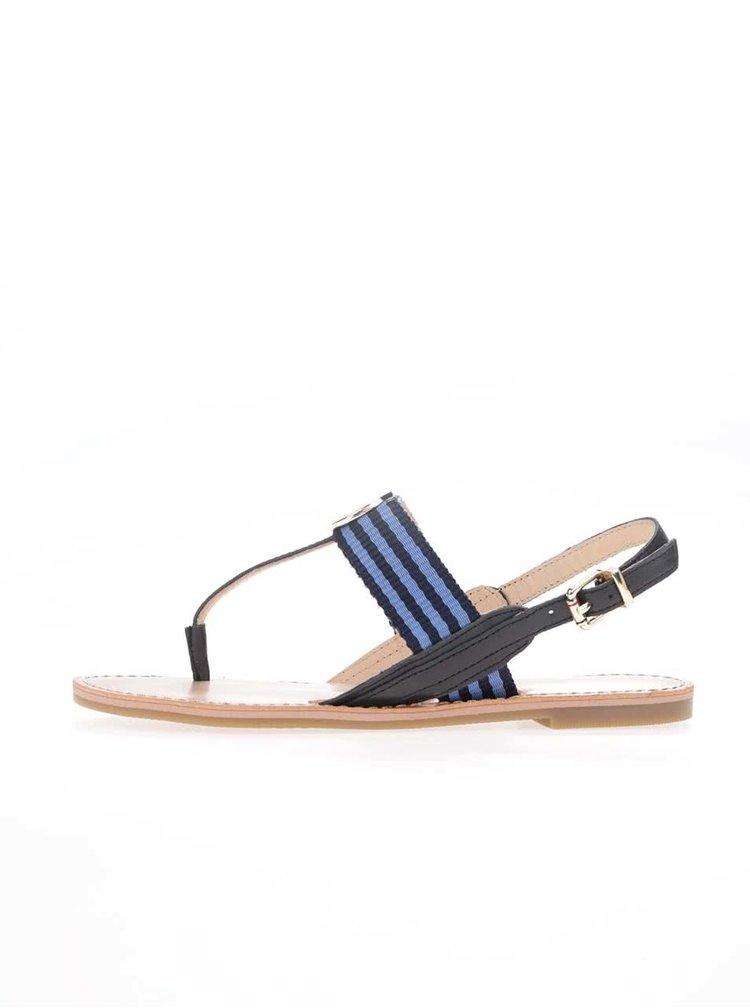 Modro-černé dámské sandálky Tommy Hilfiger