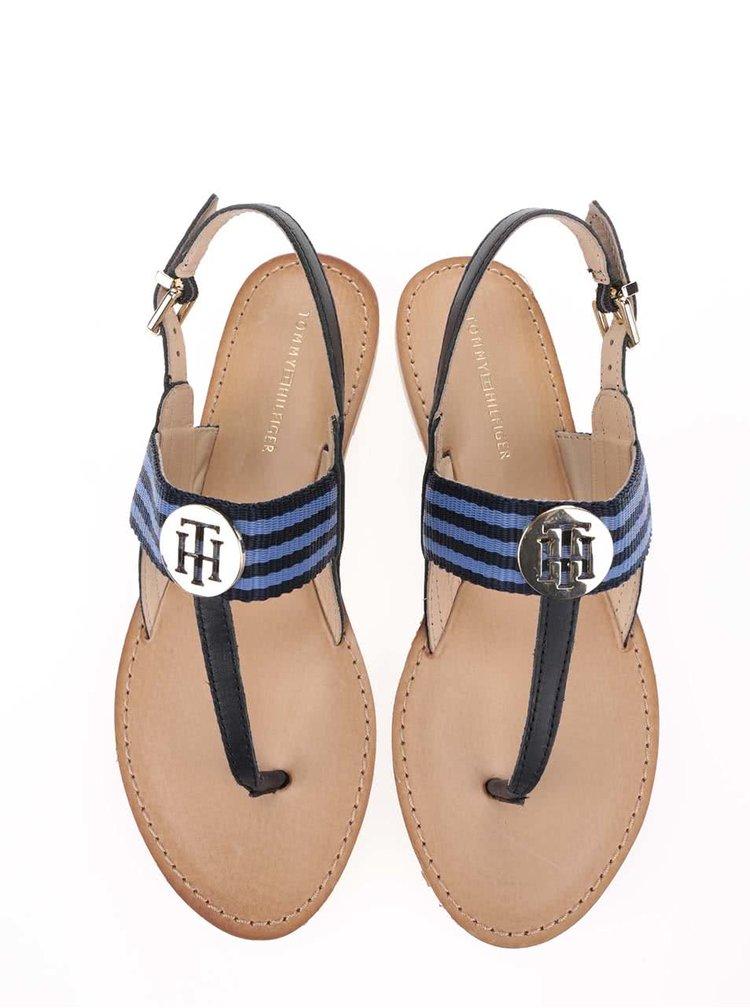 Modro-čierne dámske sandále Tommy Hilfiger