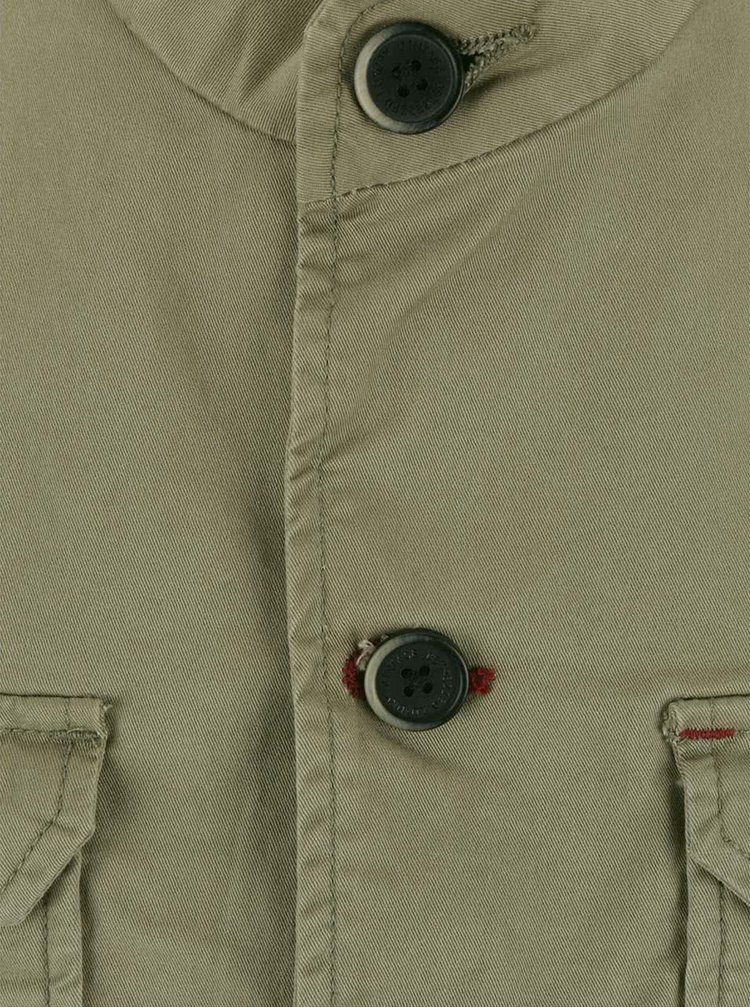 Světlá khaki bunda s kapsami Dstrezzed