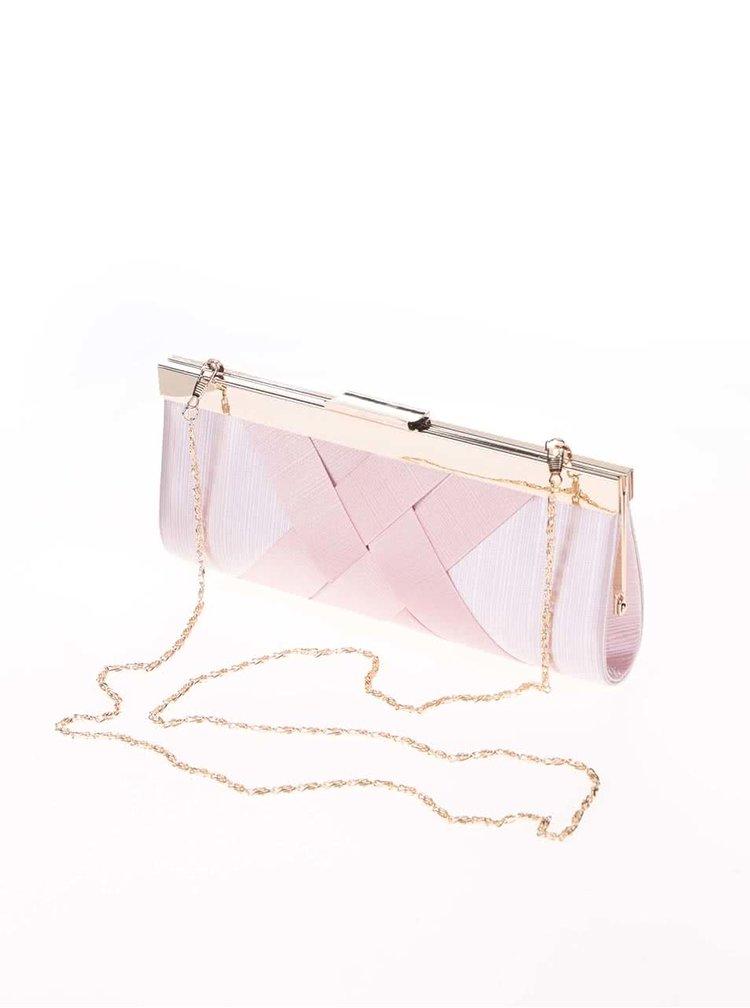 Ružová listová kabelka s plisovaným vzorom Dice Handbags