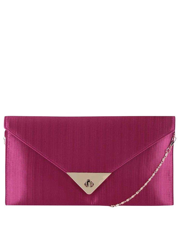 Fuchsiová kabelka na retiazke/listovka Dice Handbags