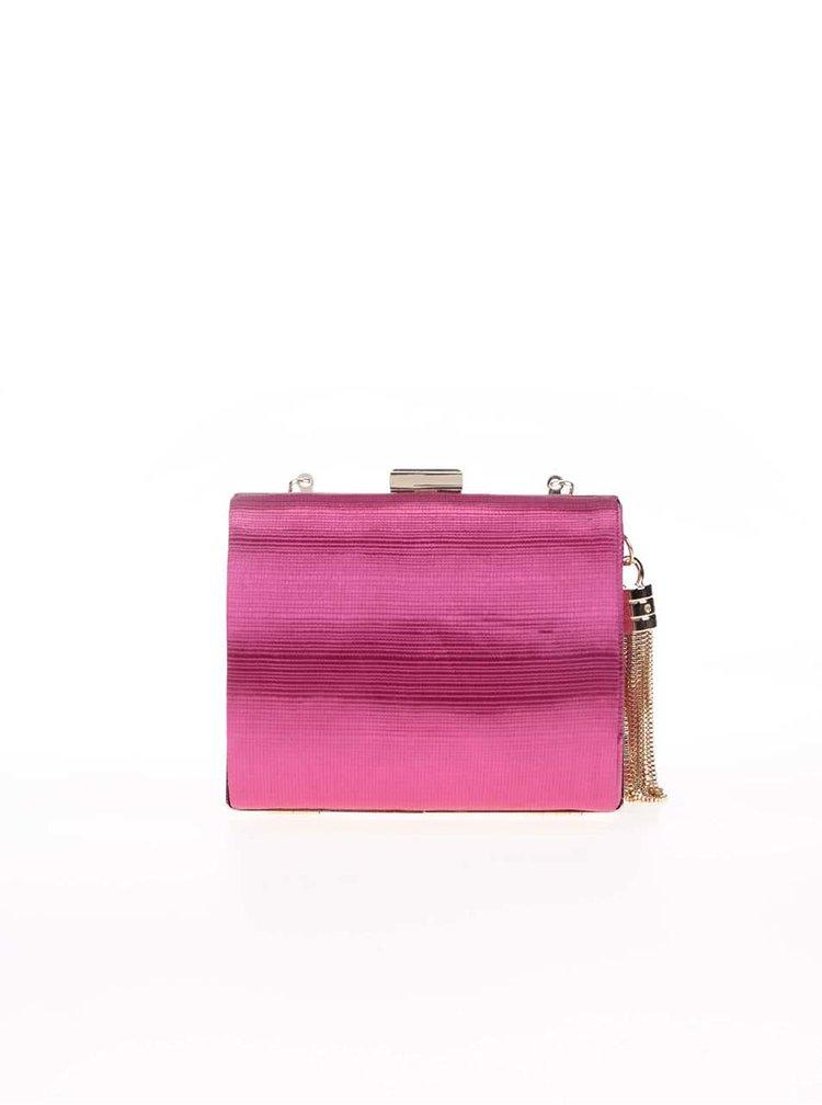 Růžové malé plisované psaníčko Dice Handbags