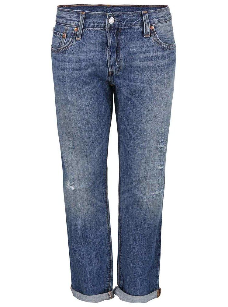 Modré dámské džíny s roztrhaným efektem Levi's® 501 CT
