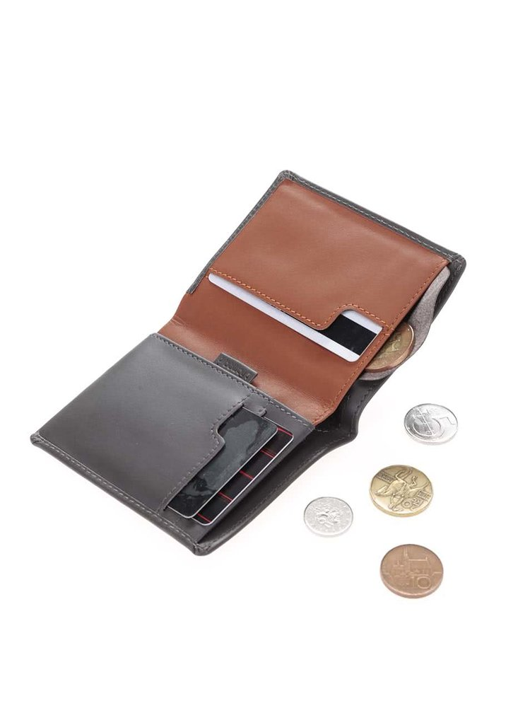 Tmavosivá kožená peňaženka Bellroy Note Sleeve