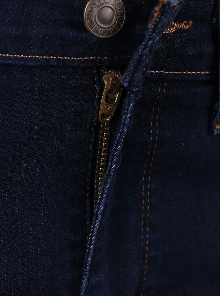 Tmavě modré dámské skinny džíny s vysokým pasem Levi's® 721