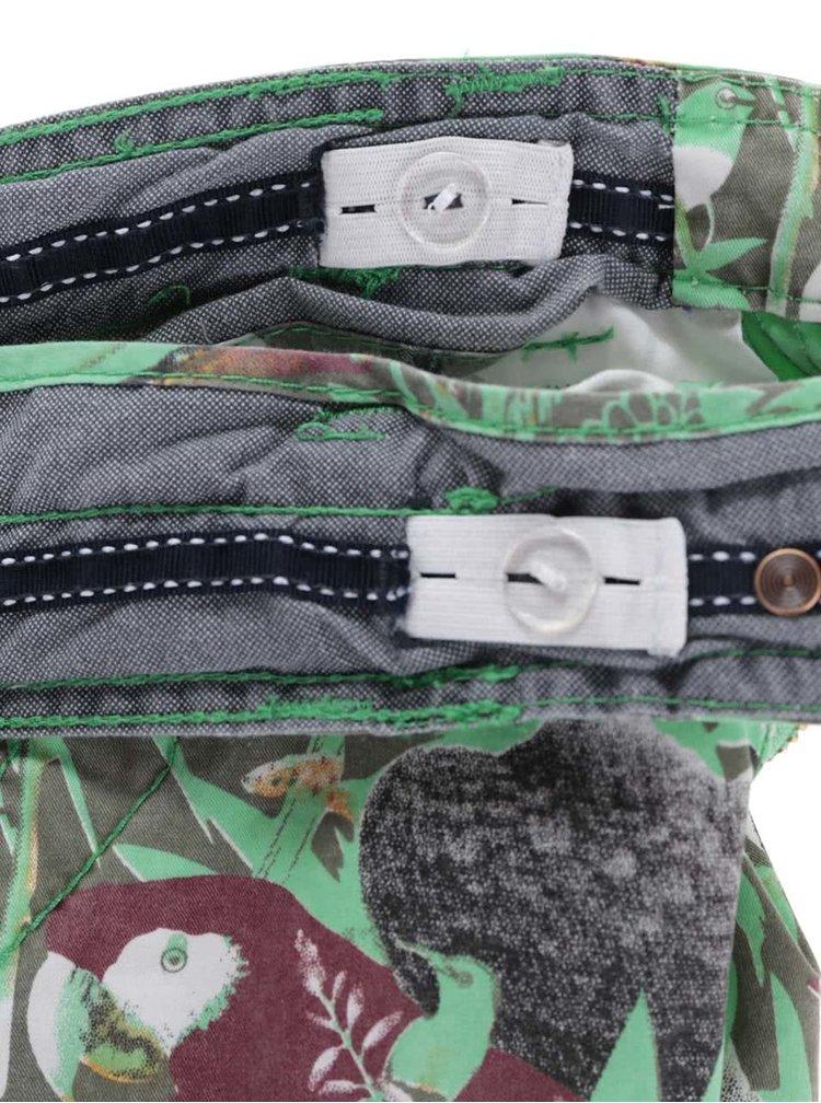 Zelené klučičí kraťasy s ptáčky Cars Jeans Sangro