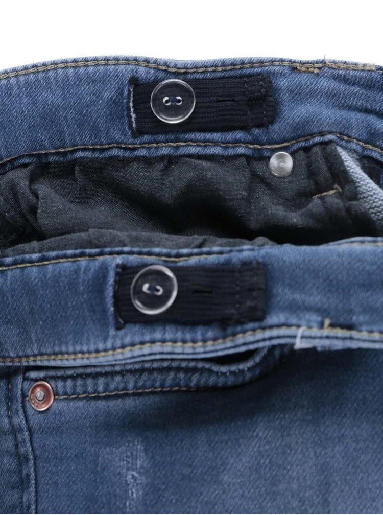 Modré chlapčenské rifľové kraťasy s ošúchaným efektom Cars Jeans Atlanta