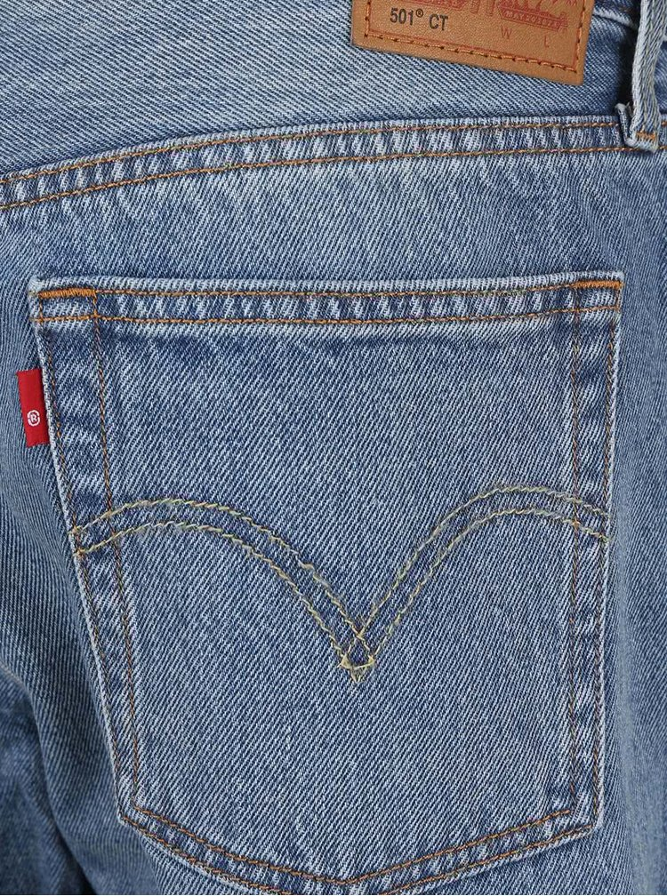 Modré dámske kraťasy s bodkami Levi's® 501 CT