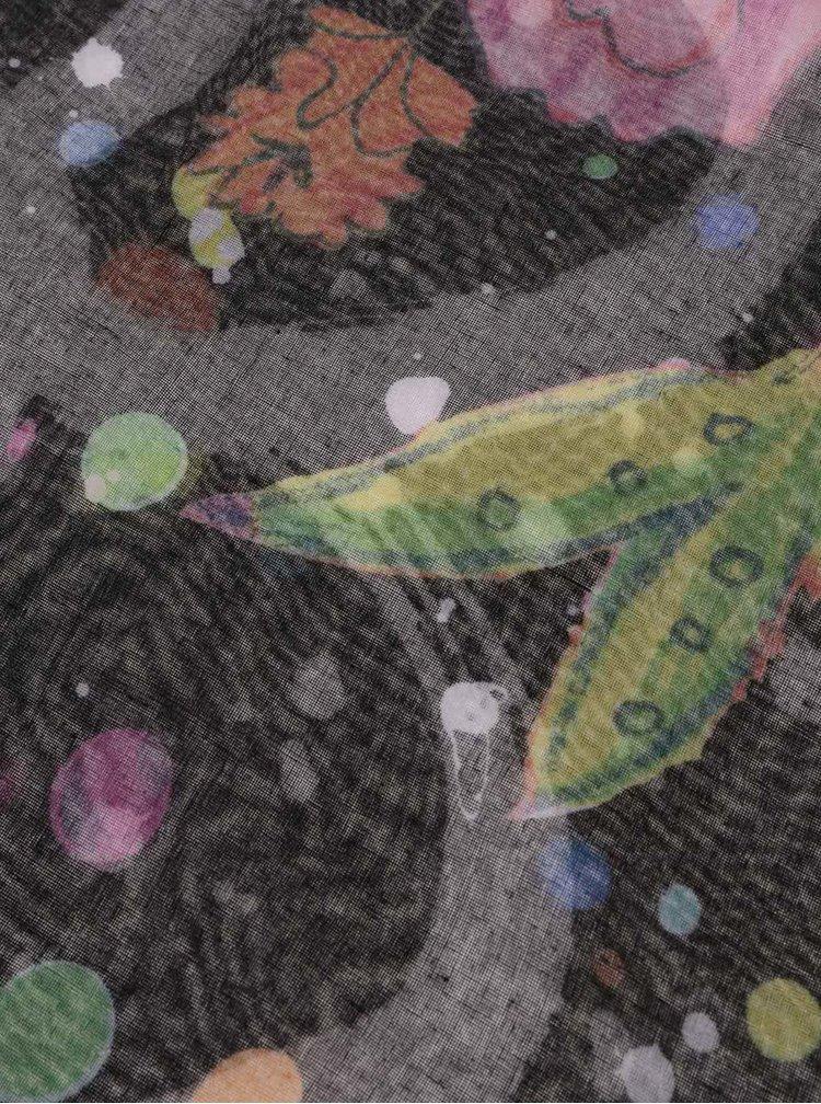 Fialová vzorovaná šatka Desigual Foulard