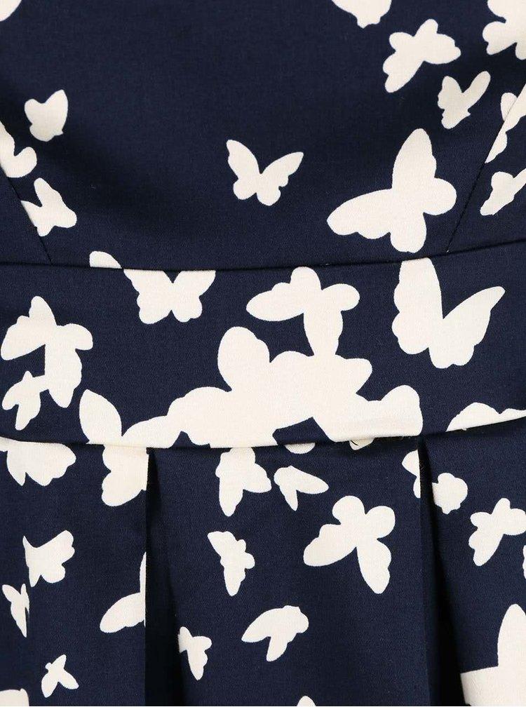 Rochie Closet albastru închis cu imprimeu