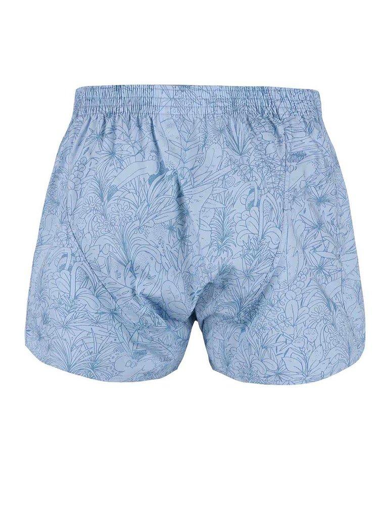 Boxeri albaștri cu imprimeu tropical Lousy Livin Tropical