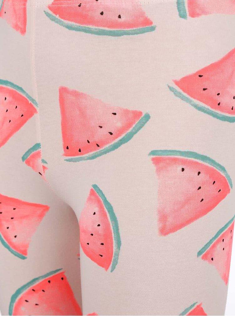 Svetloružové dievčenské legíny s melónmi name it Helen