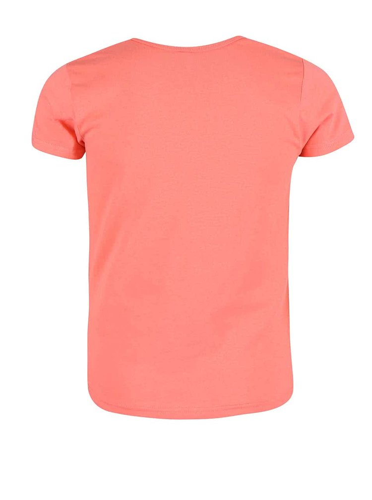 Koralové dievčenské tričko s tukanom name it Veen