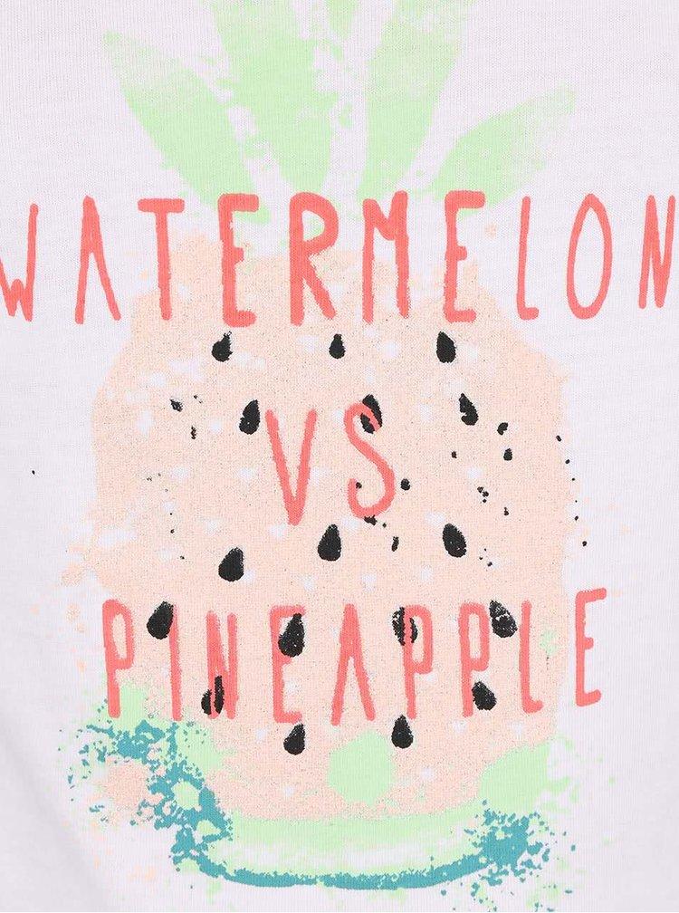 Bílé holčičí tričko s ananasem name it Veen