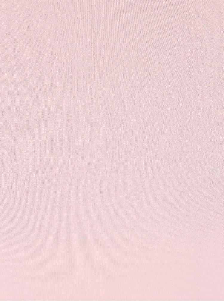 Růžové delší tričko s rozparky Madonna