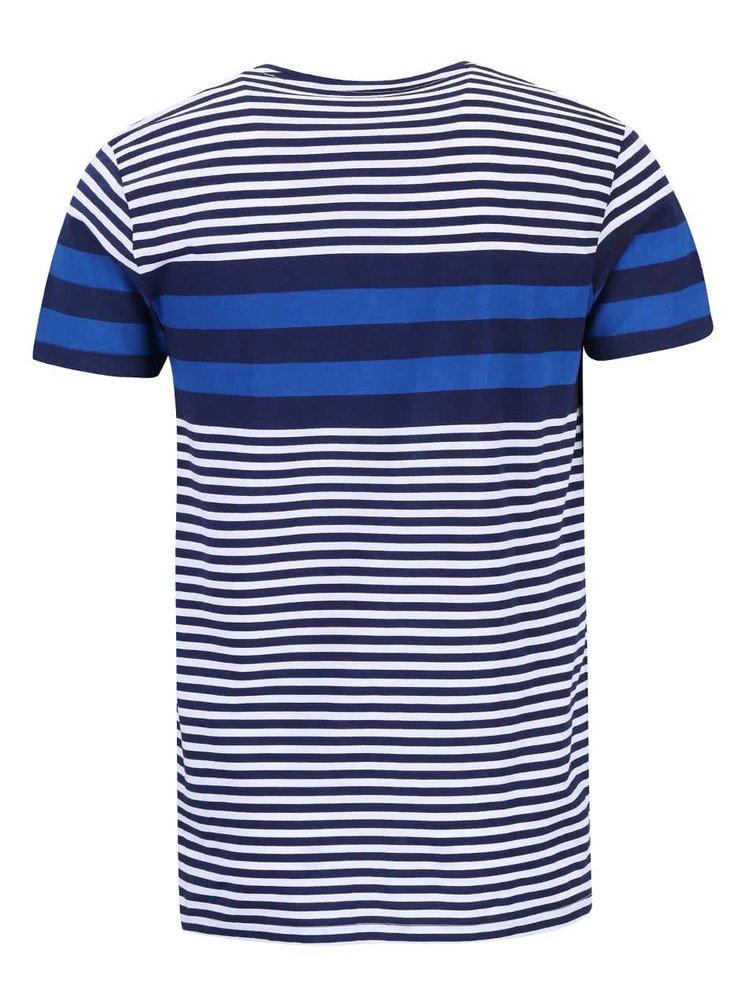 Modré pruhované triko Tailored & Originals Rickinghall