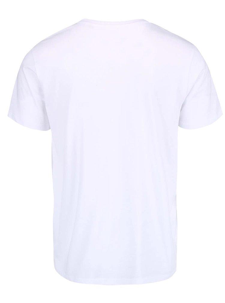 Biele pánske tričko ZOOT Originál Fandím našim