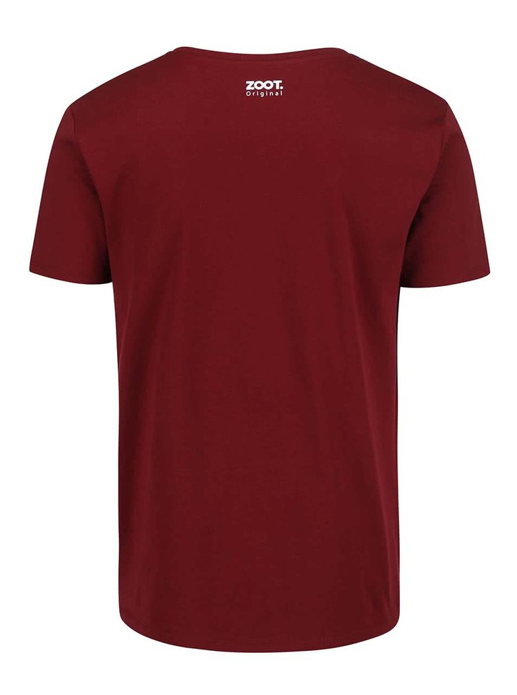 Vínové pánské triko ZOOT Originál Nepoznám mantinely