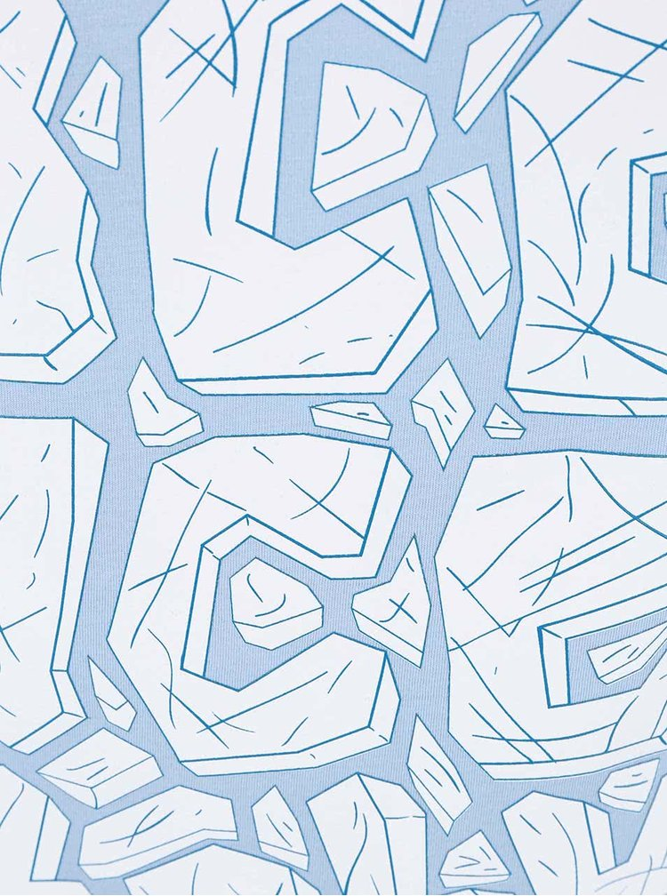 Svetlomodré dámske tričko ZOOT Originál Ice Ice Baby