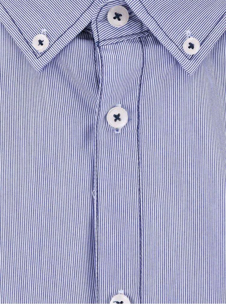 Modrá košile s krátkým rukávem Tailored & Originals Fullham Stripe SS