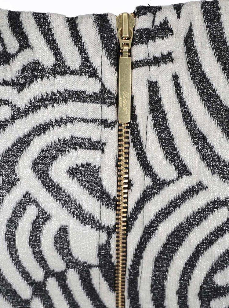Rochie cu imprimeu, negru cu alb, Closet