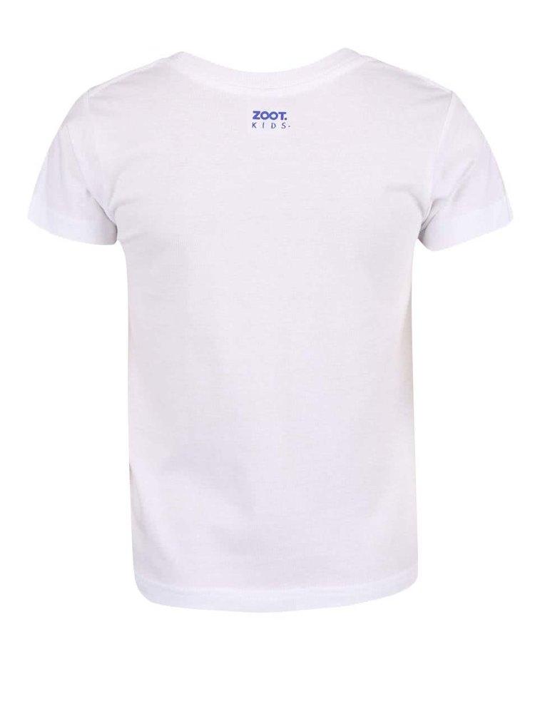 Biele detské tričko ZOOT Kids Hokejový fanúšik