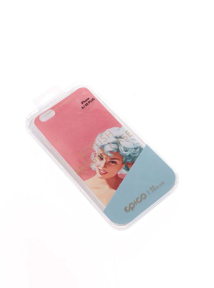Ružový ochranný kryt na iPhone 6/6S Plus Epico Bluehead