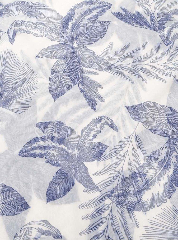 Modro-krémový dutý šátek s lístky Pieces Bengerd