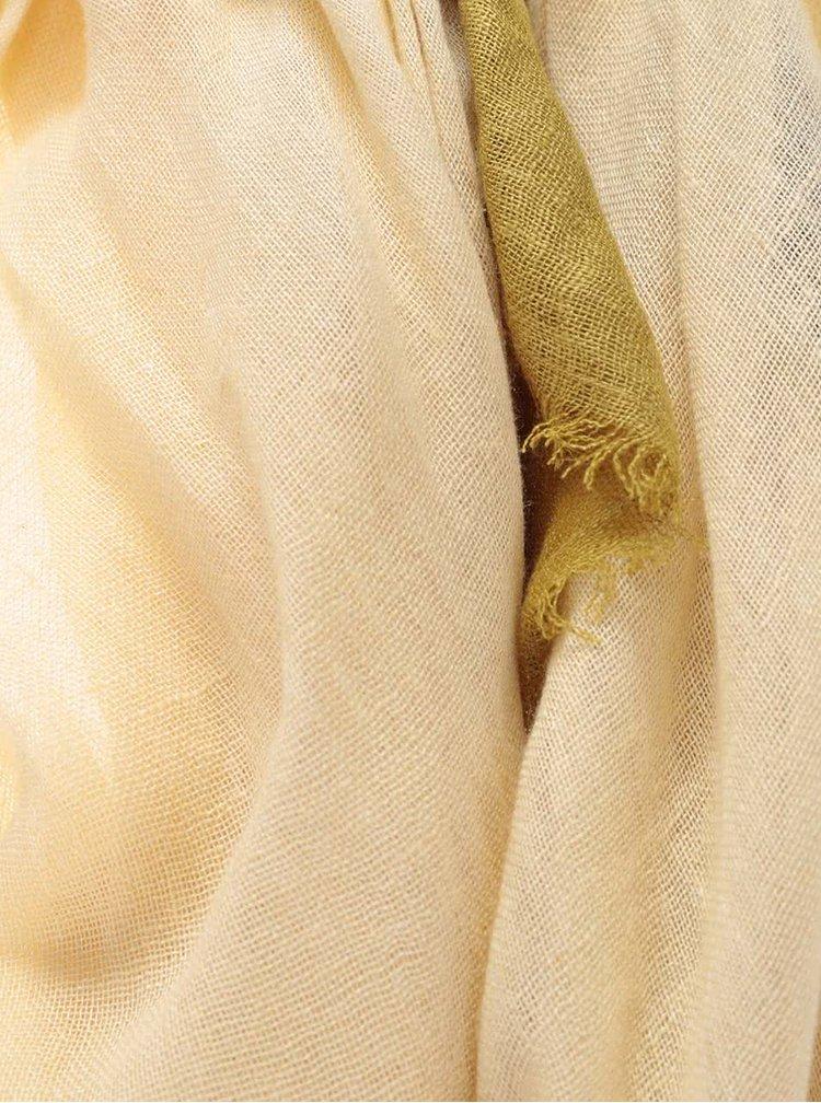 Žluto-zelený šátek Pieces Barbel