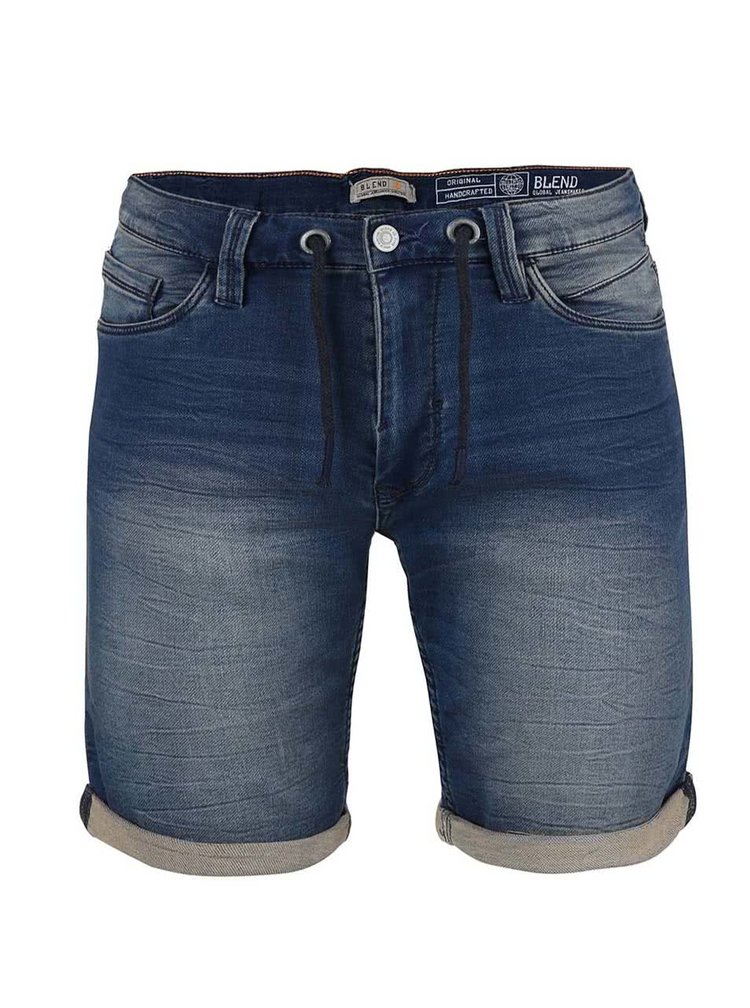 Pantaloni scurți Blend denim albaștri